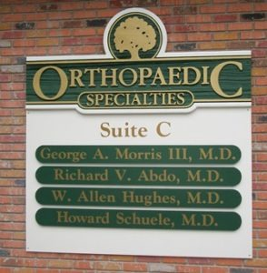 orthopaedic-specialties sign